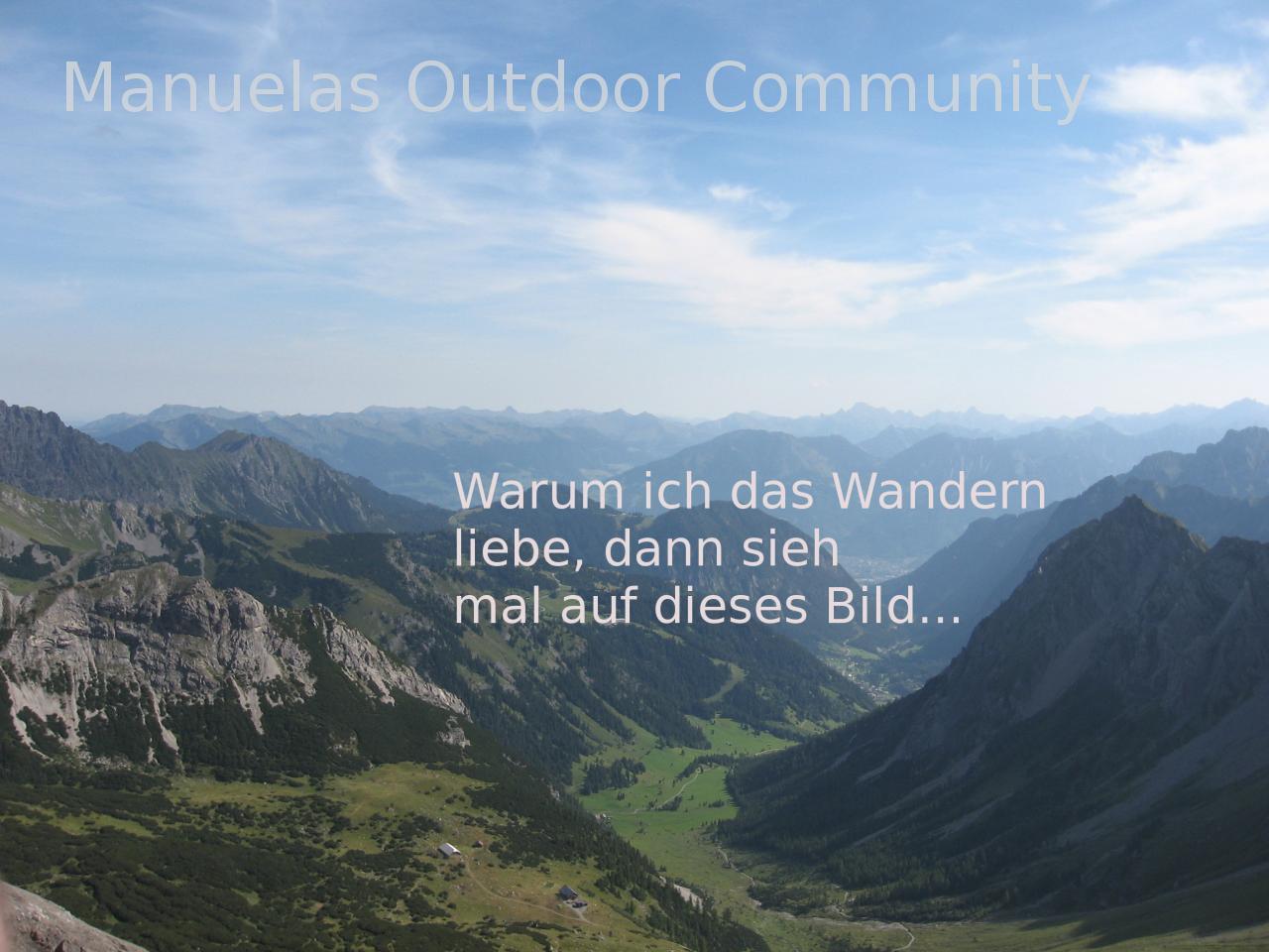 Wandern-Aussicht-Spruch: Manuelas Outdoor Community